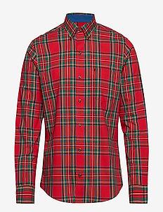 TARTAN CHECK BD SHIRT - REAL RED