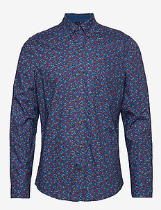 REINDEER PRINT BD SHIRT - ESTATE BLUE