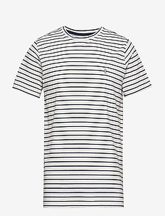 FEEDER STRIPE TEE - CLOUD DANCER