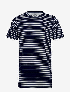 FEEDER STRIPE TEE - PEACOAT