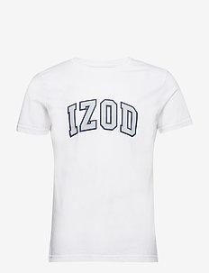 IZOD LOGO TEE - BRIGHT WHITE