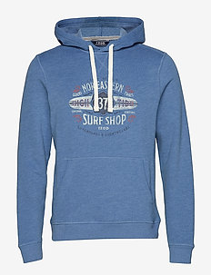 PULLOVER HOODIE WITH GRAPHIC - FEDERAL BLUE