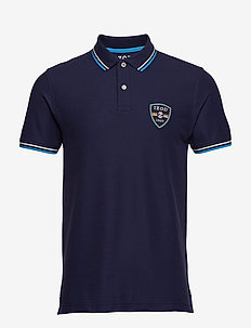 SHIELD PATCH PERFORMANCE POLO - PEACOAT