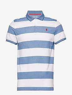 PERFORMANCE RUGBY STRIPE POLO - BRIGHT WHITE