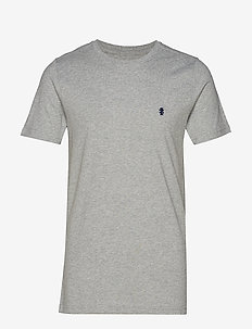CHEST LOGO BASIC TEE - LIGHT GREY HTR