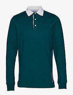 SOLID LONGSLEEVE RUGBY POLO - BOTANICAL GARDEN