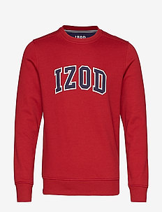 IZOD APPLIQUE FLEECE CREW - overdeler - biking red