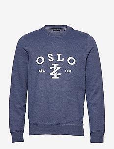 SALTWATER OSLO CREW - sweatshirts - club blue