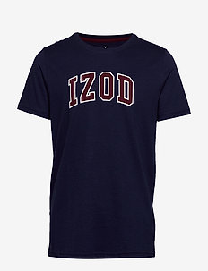 SOLID LOGO ARCH TEE - PEACOAT