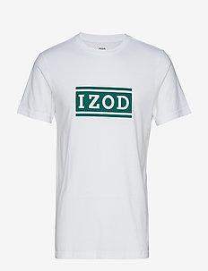 IZOD LOGO GRAPHIC TEE - BRIGHT WHITE