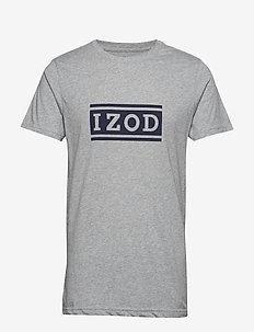 IZOD LOGO GRAPHIC TEE - LT GREY HTR