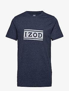 IZOD LOGO GRAPHIC TEE - PEACOAT