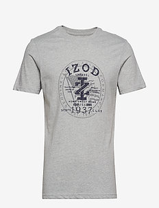 AMERICANA CREST GRAPHIC TEE - LT GREY HTR