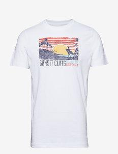 SUNSET CLIFFS GRAPHIC TEE - BRIGHT WHITE