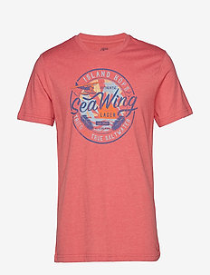 SEA WING GRAPHIC TEE - RAPTURE ROSE
