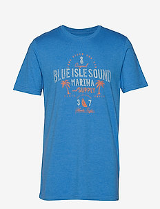 BLUE ISLAND SOUND GRAPHIC TEE - BLUE REVIVAL