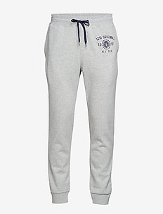 VARISTY FLEECE TRACK PANT - LT GREY HTR
