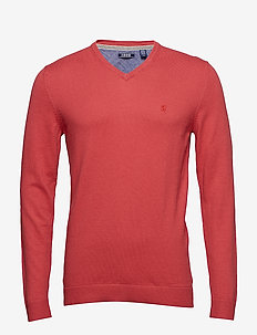 12GG V-NECK SWEATER - SALTWATER RED