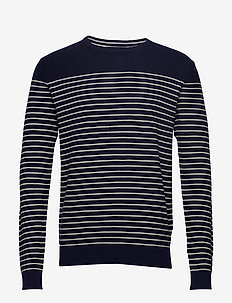 12GG ENGINEERED STRIPE SWEATER - VANILA ICE