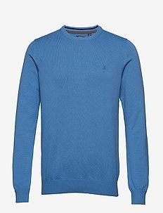 12GG CREW NECK SWEATER - BLUE REVIVAL