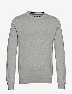 12GG CREW NECK SWEATER - LT GREY HTR