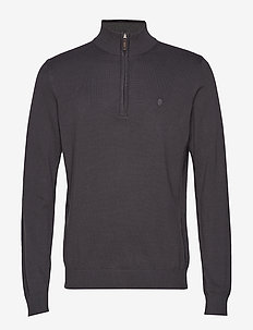 12GG 1/4 ZIP SWEATER - ASPHALT