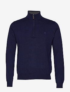 12GG 1/4 ZIP SWEATER - PEACOAT