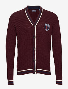 7GG RETRO TEXTURED CARDIGAN - PORT ROYALE