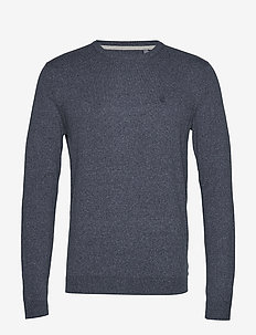 12GG SOFT COTTON CREW NECK - PEACOAT HTR