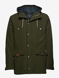 CANVAS HOODED PARKA - parkas - forest night