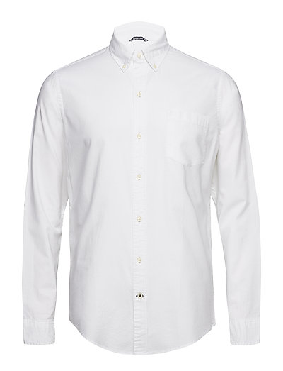 SOLID OXFORD BD SHIRT - BRIGHT WHITE