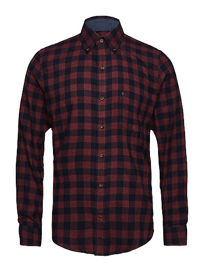 FLANNEL CHECK SHIRT - FIG