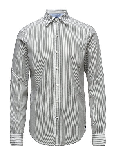 STRIPED OXFORD SHIRT - AGAVE GREEN