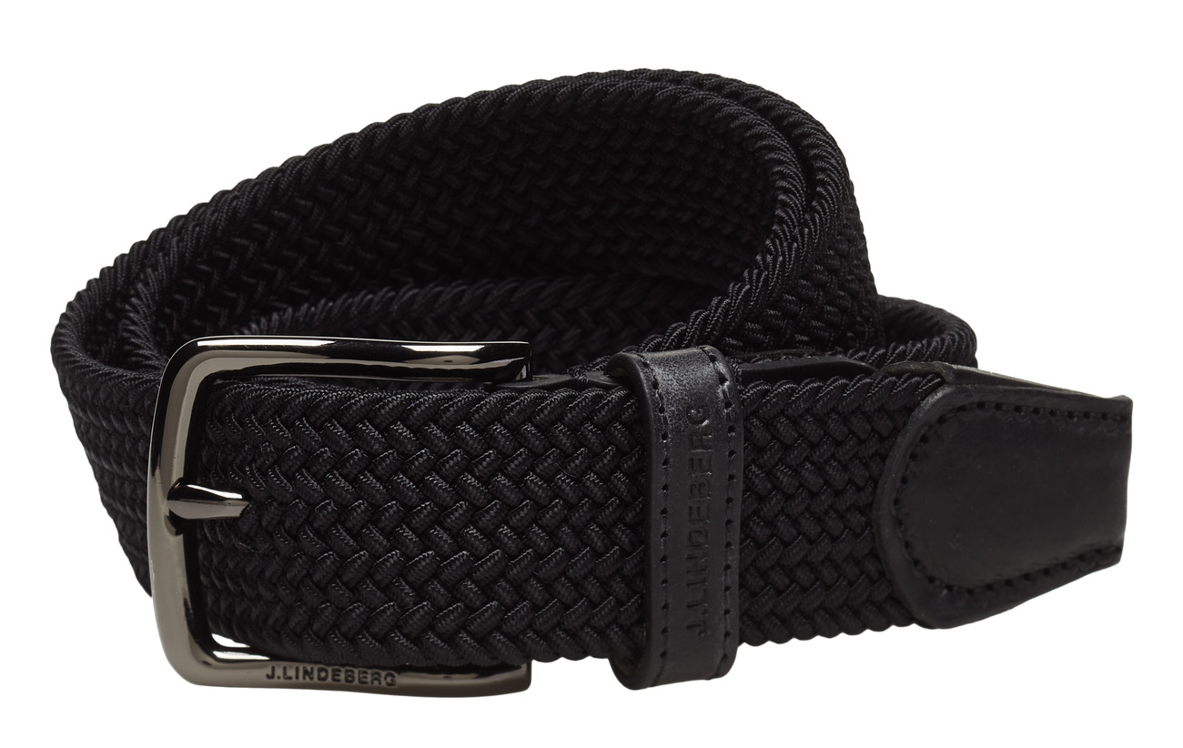 J. Lindeberg S-BELT 52004 Elastic Braid - BLACK