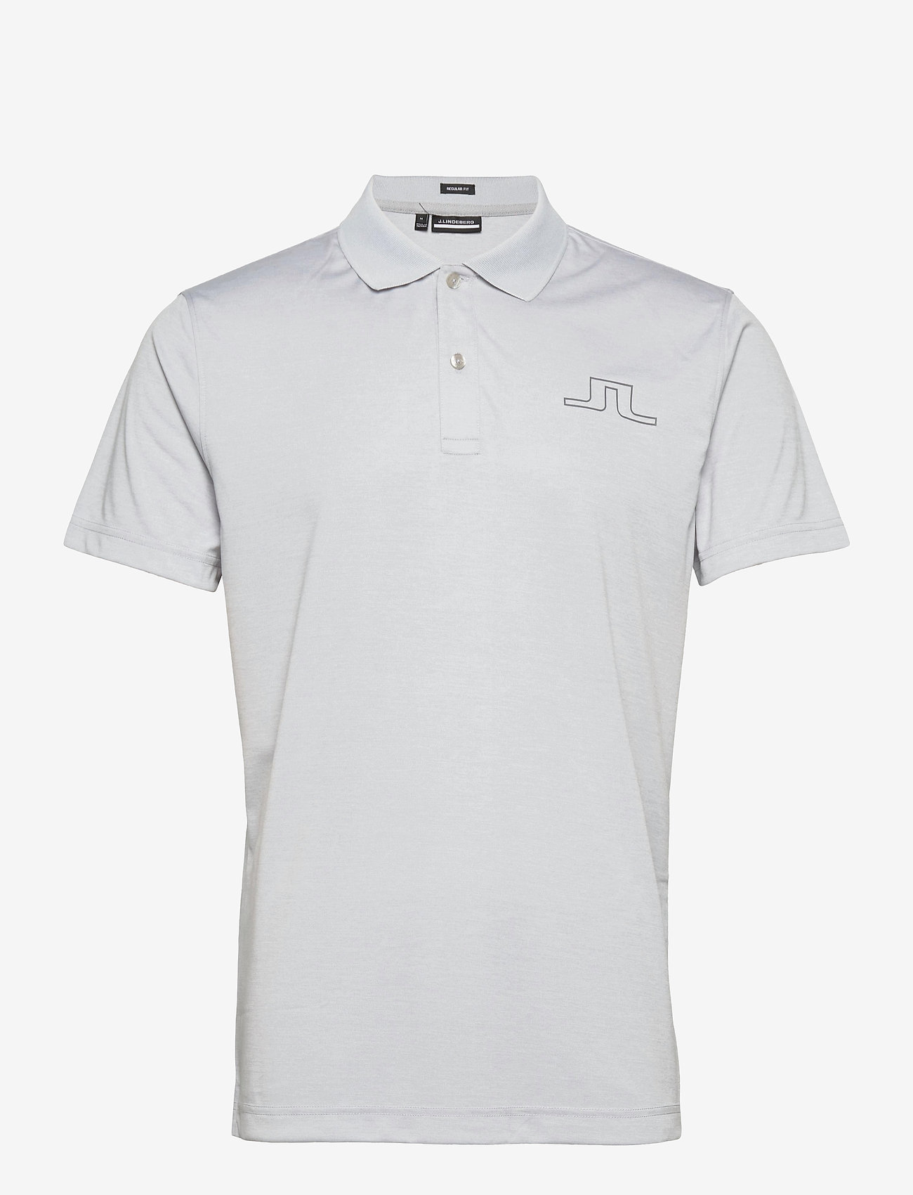 J. Lindeberg Golf - Bridge Regular Fit Golf Polo - kurzärmelig - stone grey melange - 1