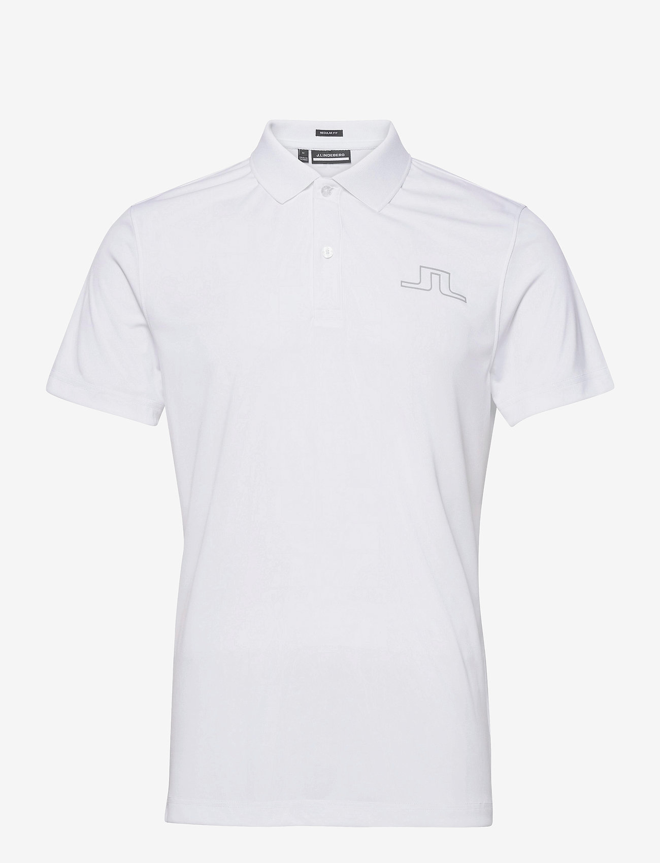 J. Lindeberg Golf - Bridge Regular Fit Golf Polo - kurzärmelig - white - 1