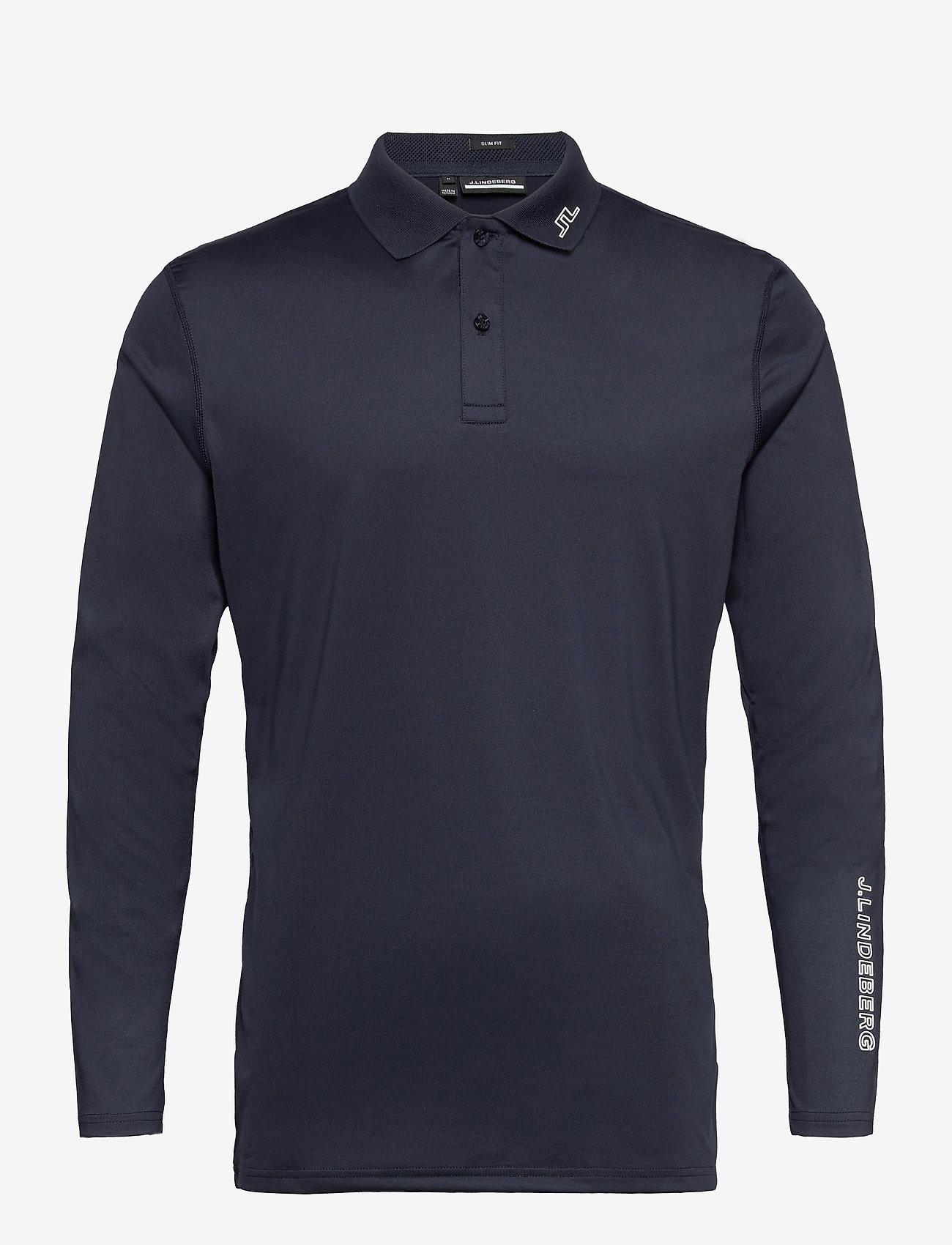 J. Lindeberg Golf - Jakob Slim Fit LS Golf Polo - langärmelig - jl navy - 1