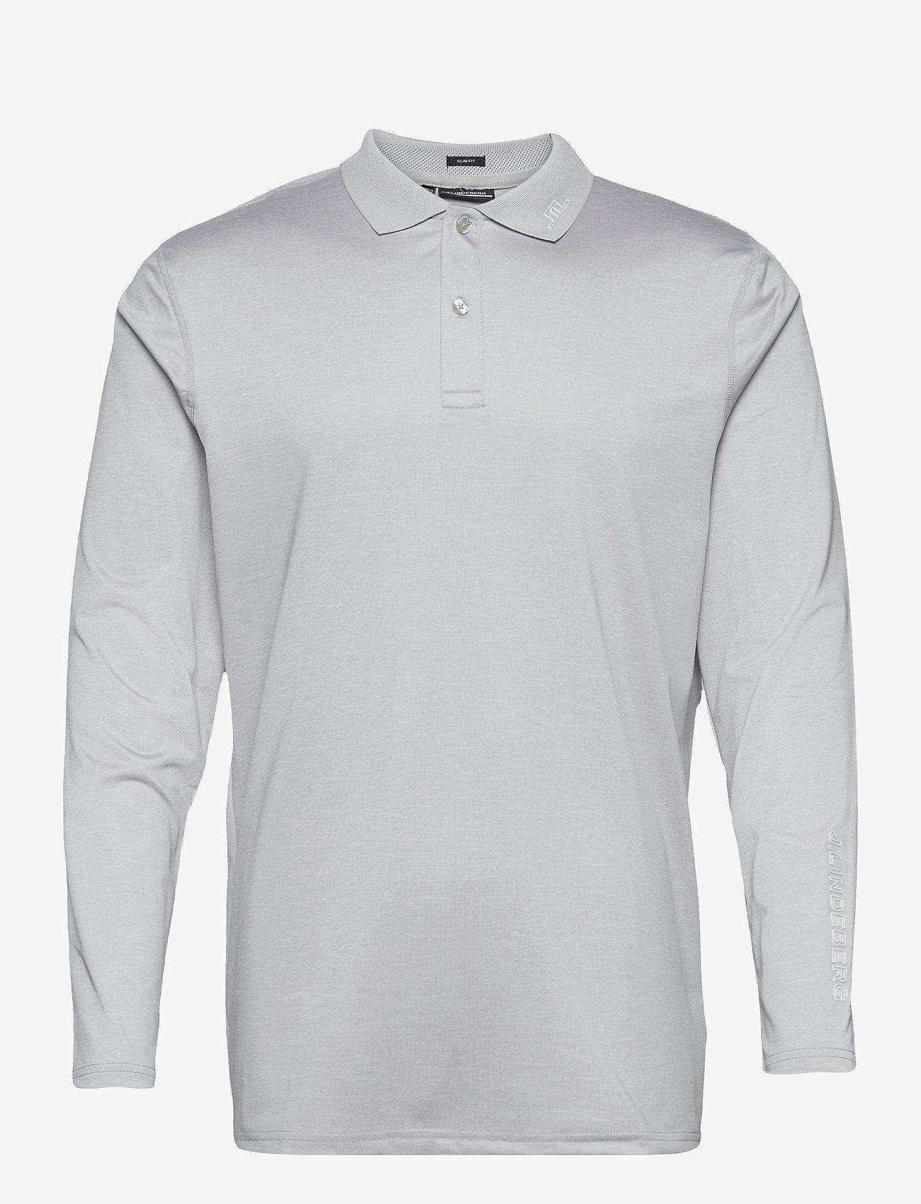 J. Lindeberg Golf - Jakob Slim Fit LS Golf Polo - langärmelig - stone grey melange - 1