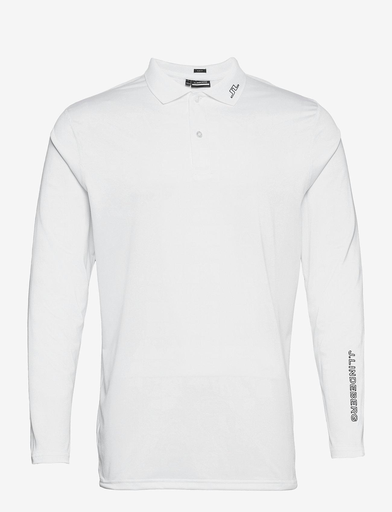 J. Lindeberg Golf - Jakob Slim Fit LS Golf Polo - langärmelig - white - 1