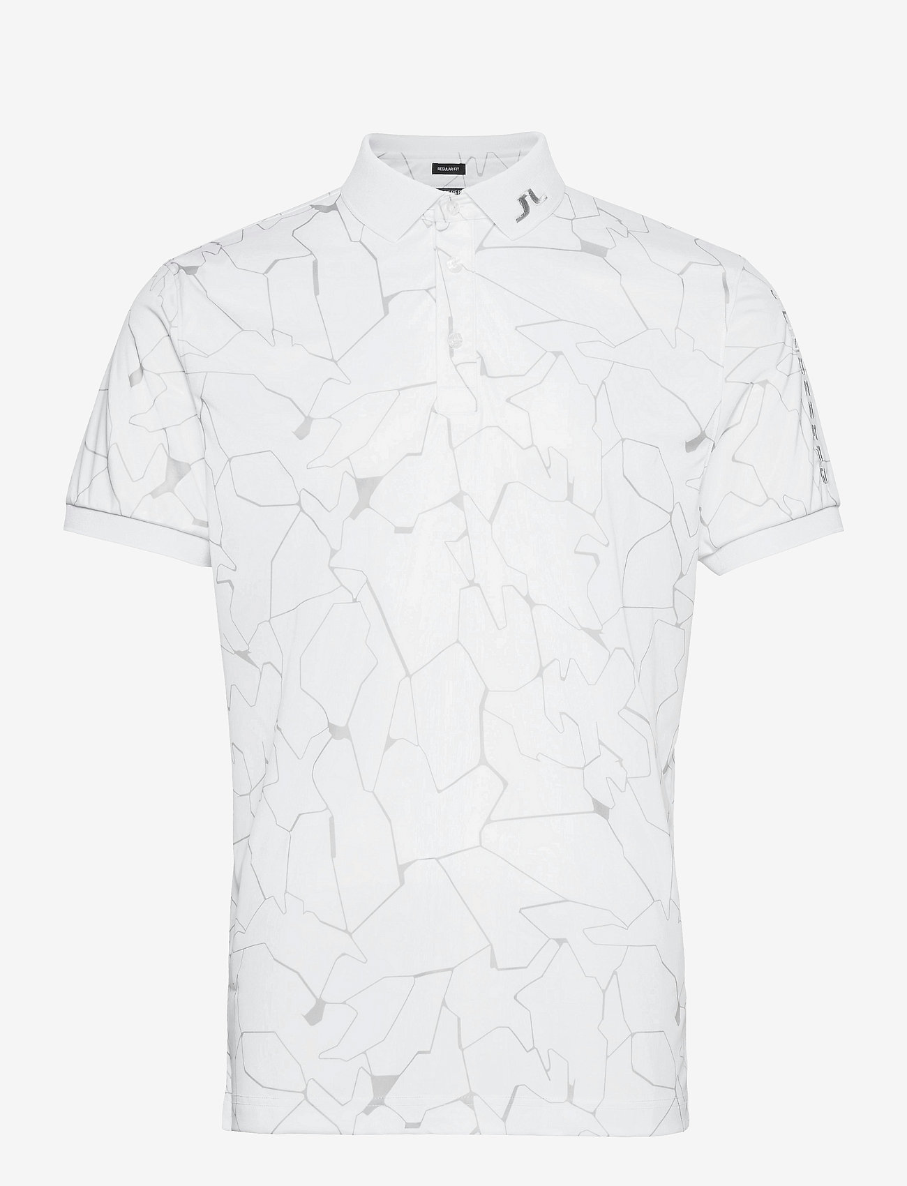 J. Lindeberg Golf - Tour Tech Reg Fit Print Polo - kurzärmelig - slit white - 1