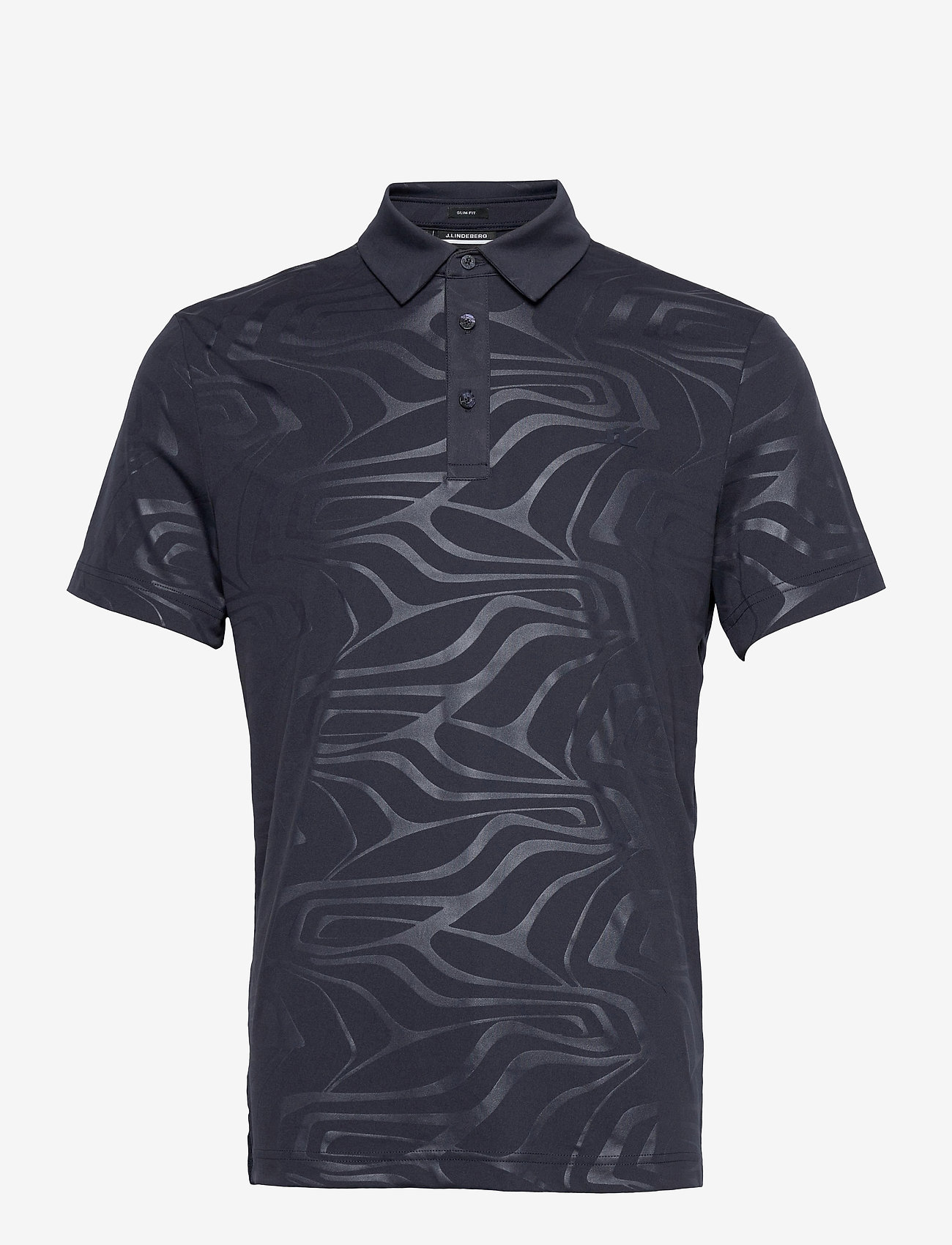 J. Lindeberg Golf - Tony Slim Fit Golf Polo Print - kurzärmelig - neo deboss navy - 1
