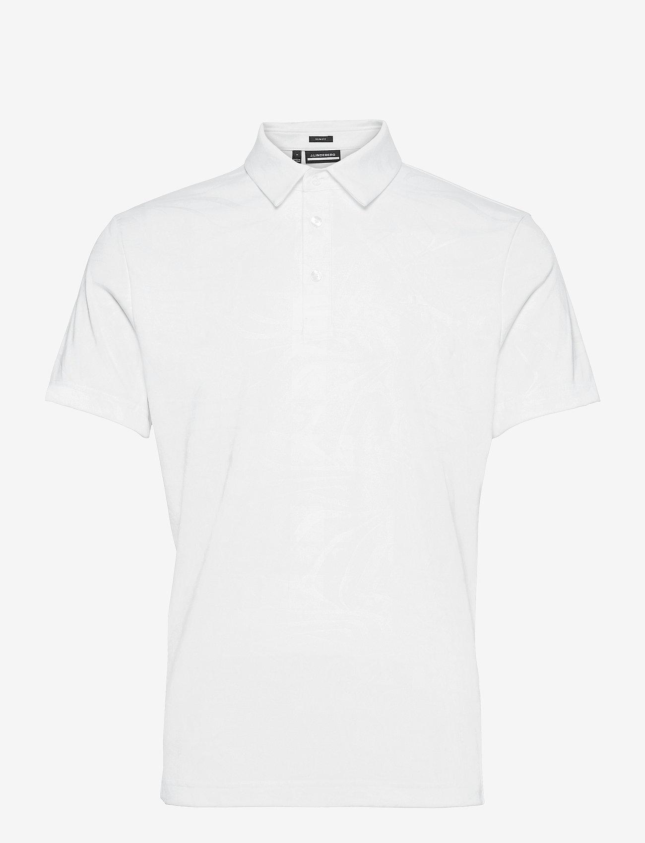 J. Lindeberg Golf - Tony Slim Fit Golf Polo Print - kurzärmelig - neo deboss white - 1