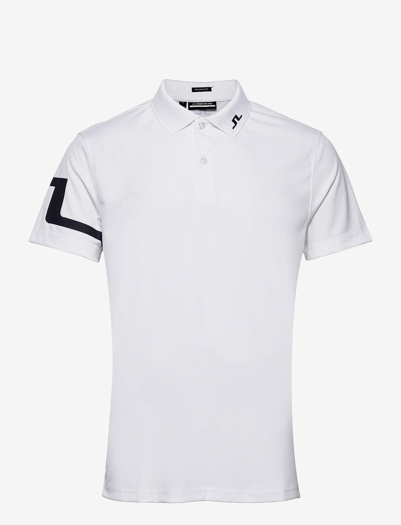 J. Lindeberg Golf - Heath Regular Fit Golf Polo - pik - white - 1
