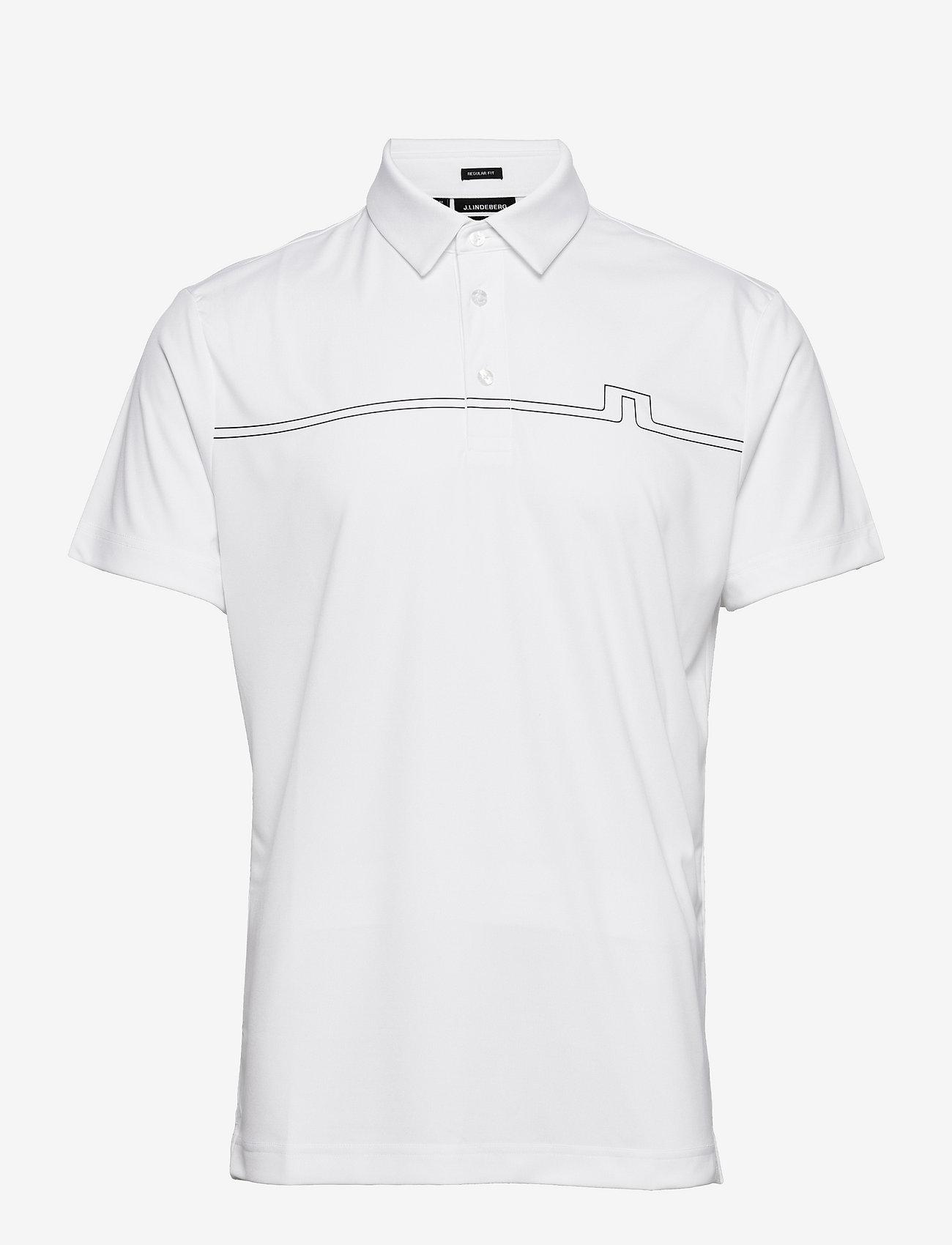 J. Lindeberg Golf - Clay Regular Fit Golf Polo - pik - white - 1