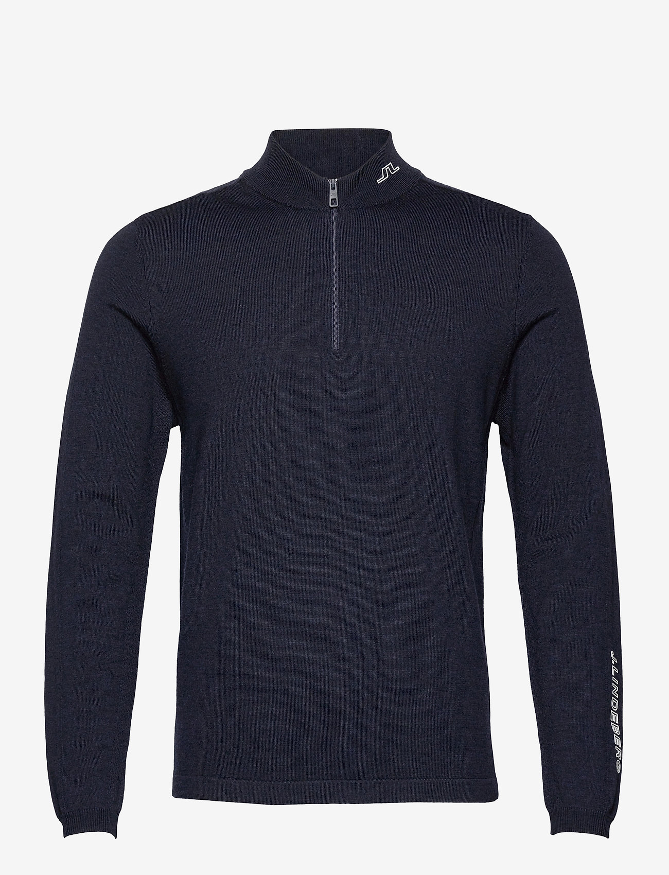 J. Lindeberg Golf - Zam Zipped Golf Sweater - half zip - navy melange - 0