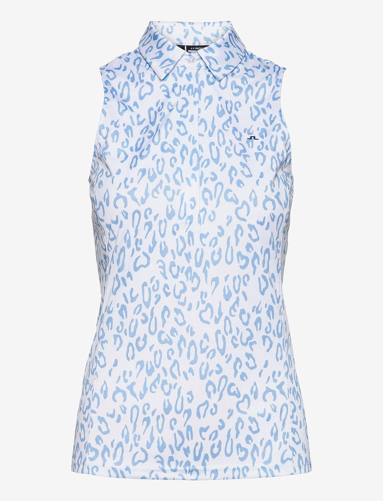 J. Lindeberg Golf - Dena Sleeveless Golf top Print - tank tops - animal blue white - 1