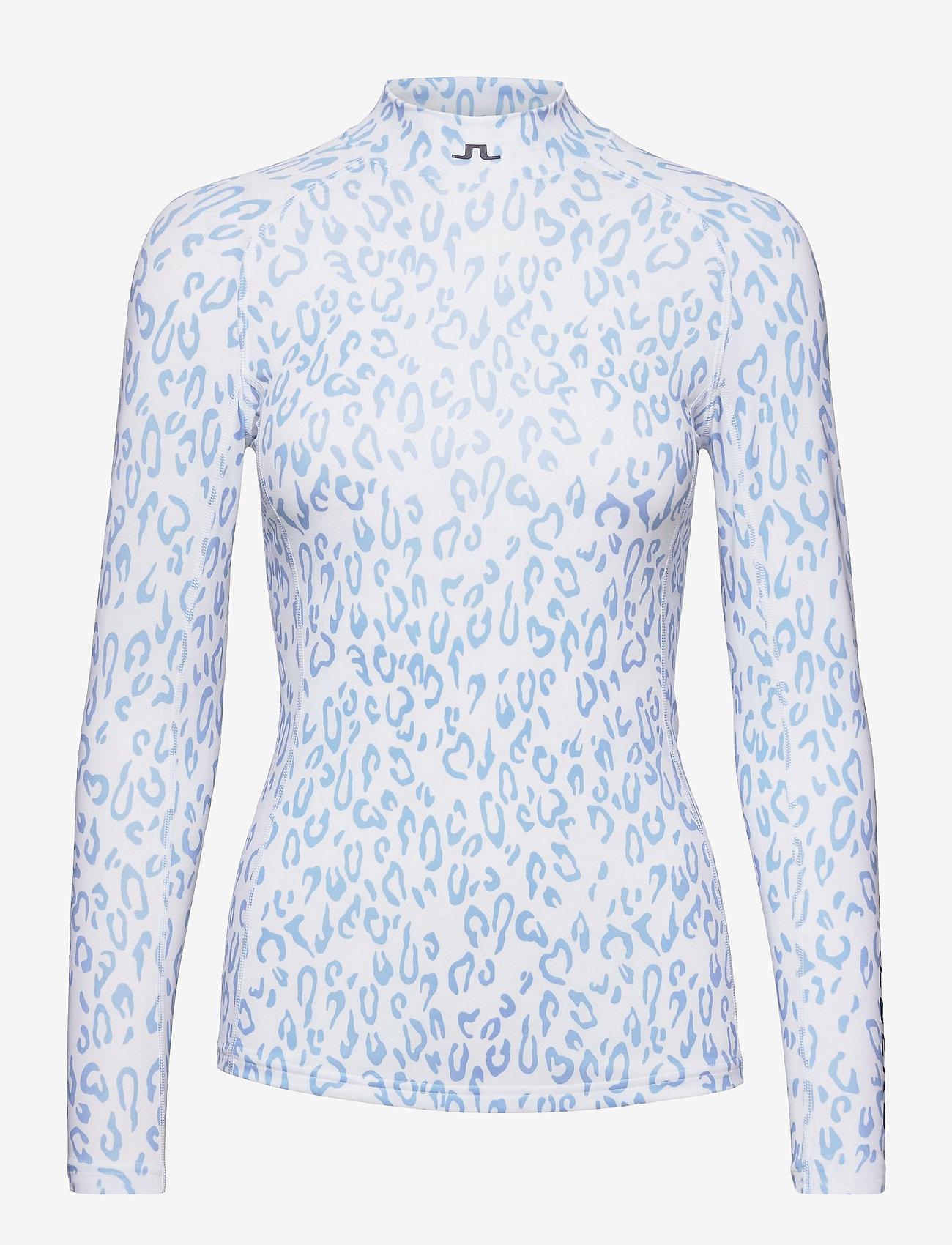 J. Lindeberg Golf - sa Print Soft Compression Top - longsleeved tops - animal blue white - 1
