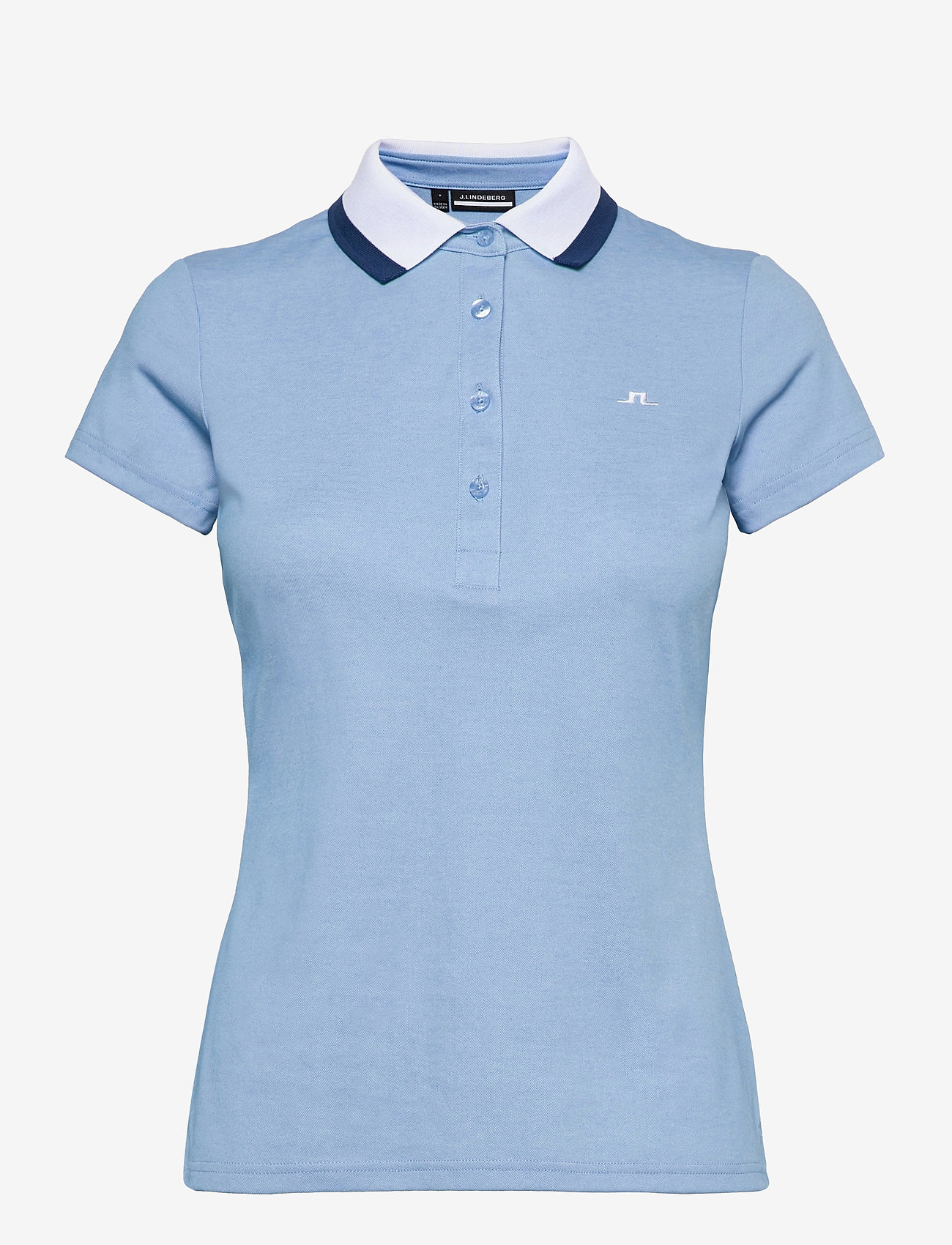 J. Lindeberg Golf - Alve Golf Polo - polos - summer blue melange - 1
