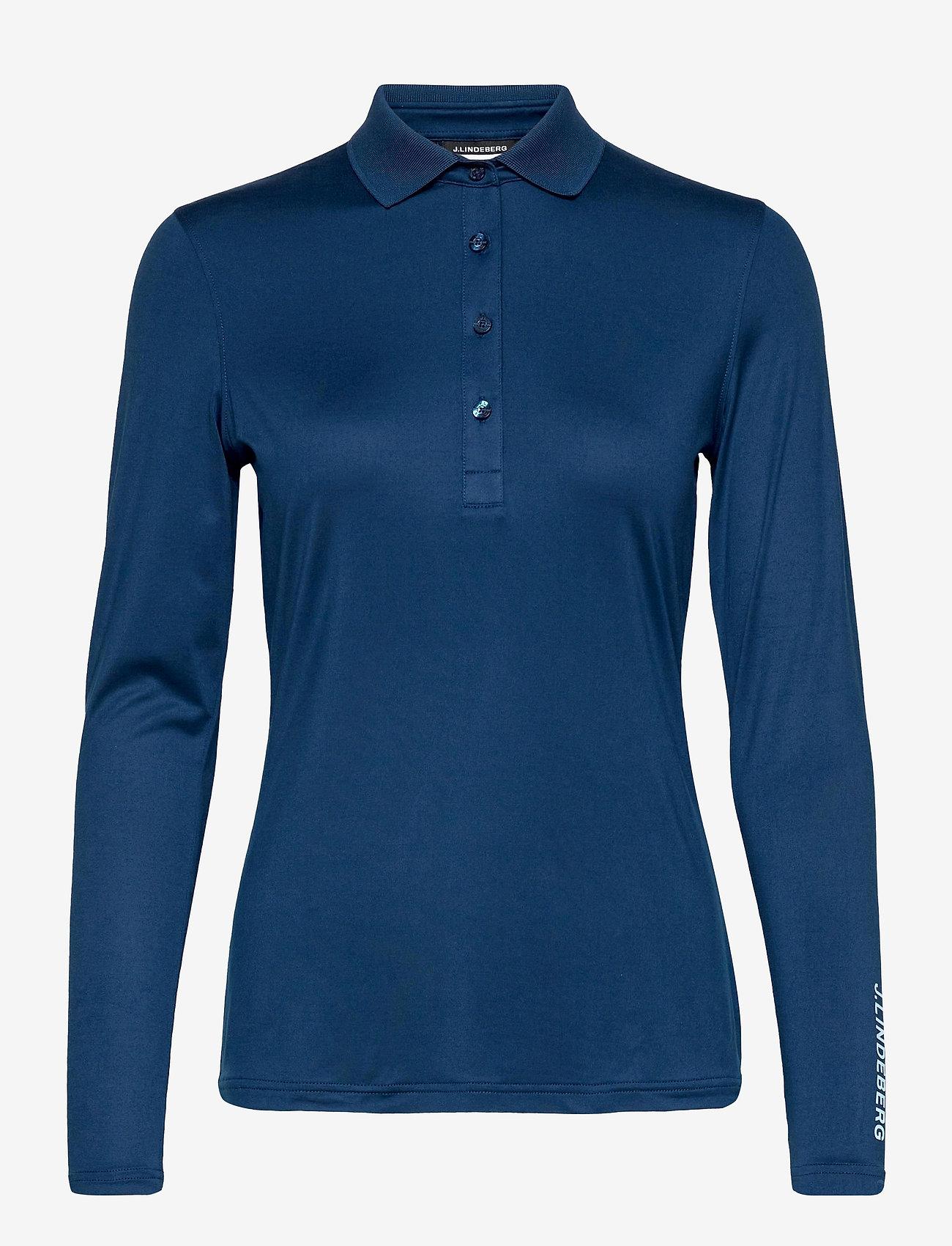J. Lindeberg Golf - Tour Tech LS Golf Polo - polos - midnight blue - 1