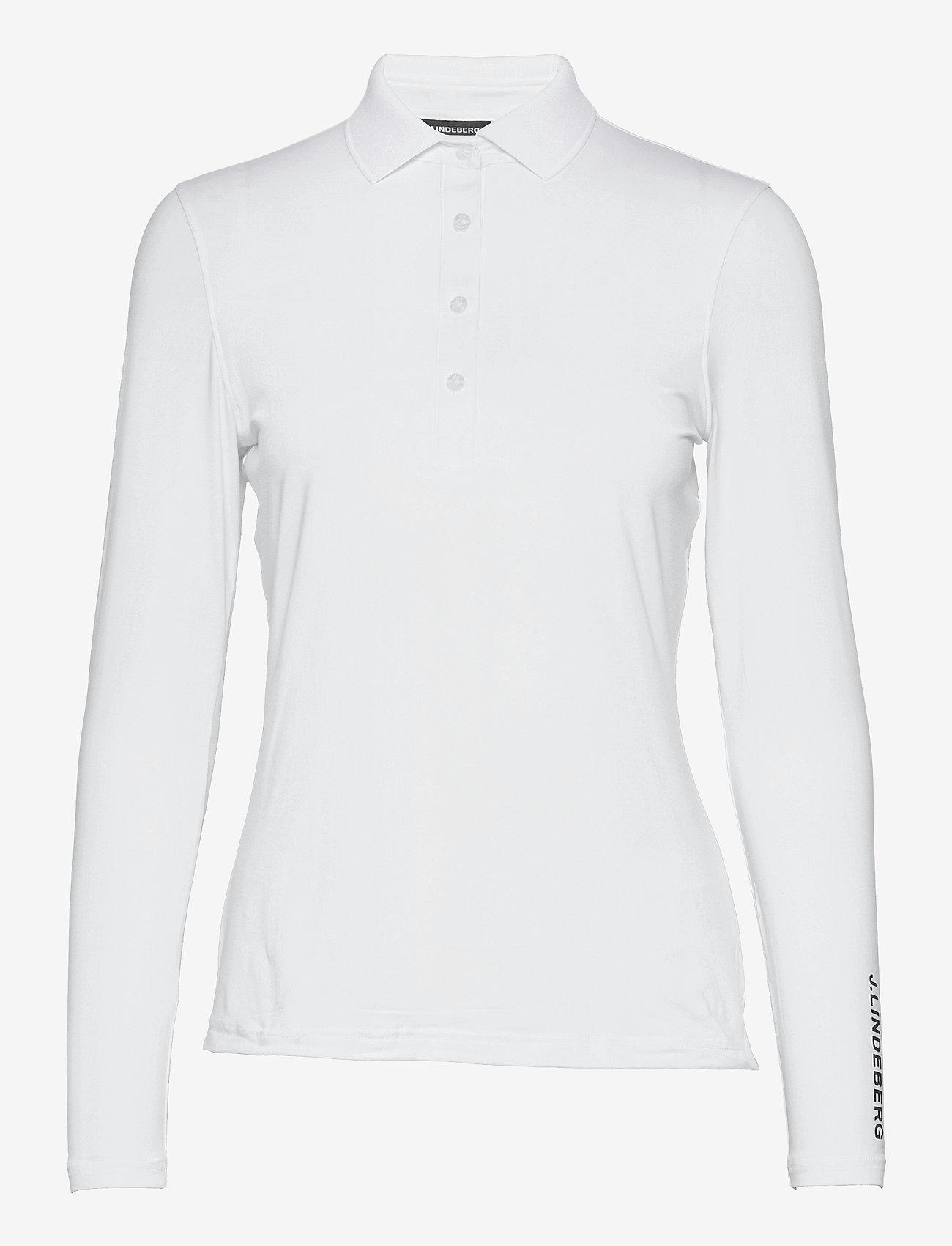 J. Lindeberg Golf - Tour Tech LS Golf Polo - polos - white - 1